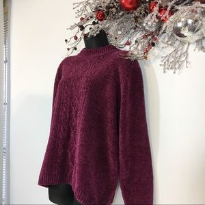 🎁Cozy Cranberry Chenille Sweater in Size XL